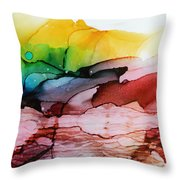 Abstract Landscape Throw Pillow
