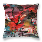 Abstract Landscape Sketch13 Throw Pillow