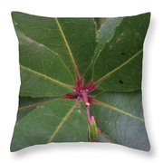 Abstract Leaves Throw Pillow
