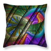 Abstract Levels Of Color Throw Pillow