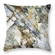 Abstract Limestone And Silica Texture Throw Pillow