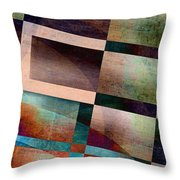 Abstract Lines And Shapes Throw Pillow