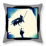 Abstract Look Of Bee On White Flower Throw Pillow