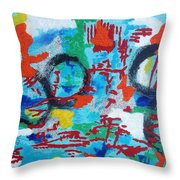 Abstract Love Throw Pillow