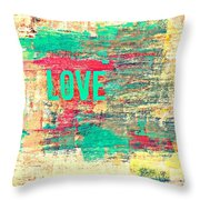 Abstract Love V2 Throw Pillow