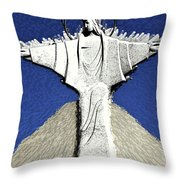Abstract Lutheran Cross 5a Throw Pillow
