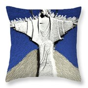 Abstract Lutheran Cross 5a1 Throw Pillow