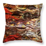 Abstract Magnified Lines Throw Pillow