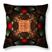 Abstract Mandala 2 Throw Pillow
