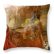 Abstract-mask Throw Pillow