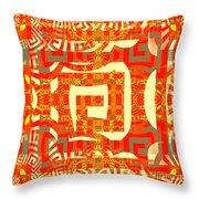 Abstract Maze Throw Pillow