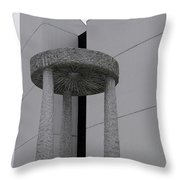 Abstract Modern Architecture And Millstone Sculpture At Scarboro Throw Pillow