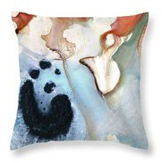 Abstract Modern Art - The Vessel - Sharon Cummings Throw Pillow