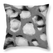 Abstract Monochome 152 Throw Pillow