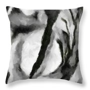 Abstract Monochome 154 Throw Pillow