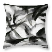 Abstract Monochome 156 Throw Pillow