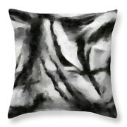 Abstract Monochome 158 Throw Pillow