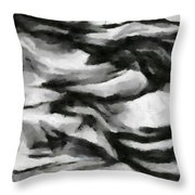 Abstract Monochome 162 Throw Pillow