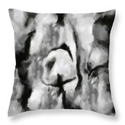 Abstract Monochome 165 Throw Pillow