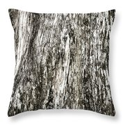 Abstract Monochrome Bark Throw Pillow