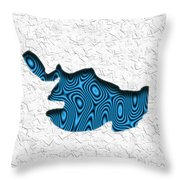 Abstract Monster Cut-out Series - Blue Swimmer Throw Pillow