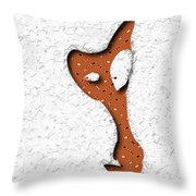 Abstract Monster Cut-out Series - Orange Slither Throw Pillow