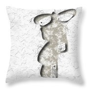 Abstract Monster Cut-out Series - Sandstone Trooper Throw Pillow