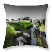 Abstract Mood Selective Color Throw Pillow