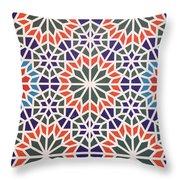 Abstract Moroccon Tiles Colorful Throw Pillow
