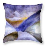 Abstract Mountain Landscape Throw Pillow