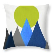 Abstract Mountains And Sun Throw Pillow