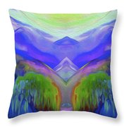 Abstract Mountains By Nixo Throw Pillow