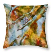 abstract mountains I Throw Pillow