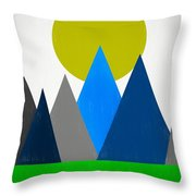 Abstract Mountains Landscape Throw Pillow