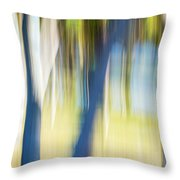 Abstract Moving Trees 30 Throw Pillow
