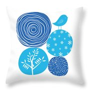 Abstract Nature Blue Throw Pillow