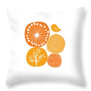 Abstract Nature Orange Throw Pillow