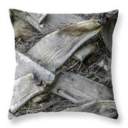 Abstract Nature Tropical Palm Tree Bark 1873a Throw Pillow