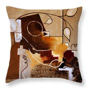 Abstract Nature Wall Throw Pillow