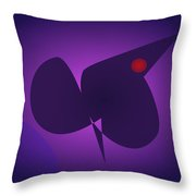 Abstract Navy And Purple Throw Pillow
