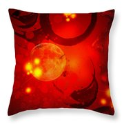 Abstract-nebula Throw Pillow by Patricia Motley