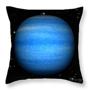Abstract Neptune Throw Pillow