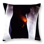 Abstract Nude Throw Pillow