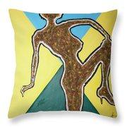 Abstract Nude Ebony In Heels Throw Pillow