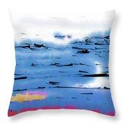 Abstract Ocean Throw Pillow