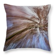 Abstract Of A Spring Tree In Bloom. In Camera Effect. Throw Pillow