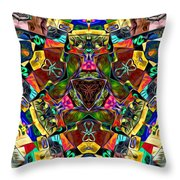 Abstract Of Abundant Colors Throw Pillow