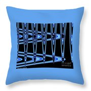Abstract Of Blue Clock Works Throw Pillow