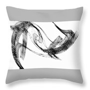 Abstract Of Dolphins In Courting Ritual Throw Pillow