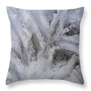 Abstract Of Ice Throw Pillow